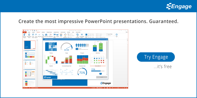 Create the most impressive PowerPoint presentations. Guaranteed. Try Engage for free