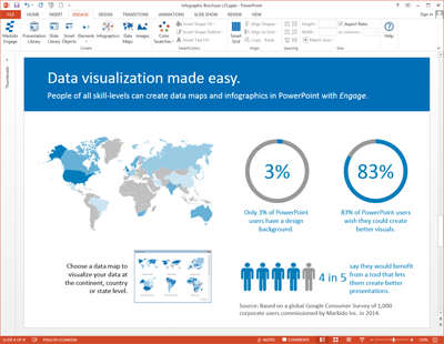 Screenshot of PowerPoint Engage slide - Data visualization made easy.